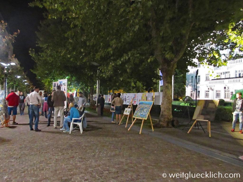 Montenegro Hauptstadt Podgorica Stadtverwaltung Kunstausstellung