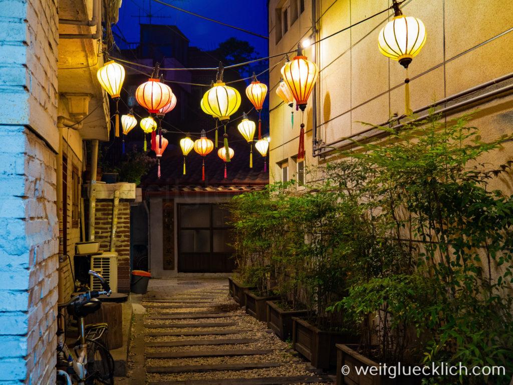 Weltreise 2020 Suedkorea Seoul Seongsu-dong Brooklyn Lampions