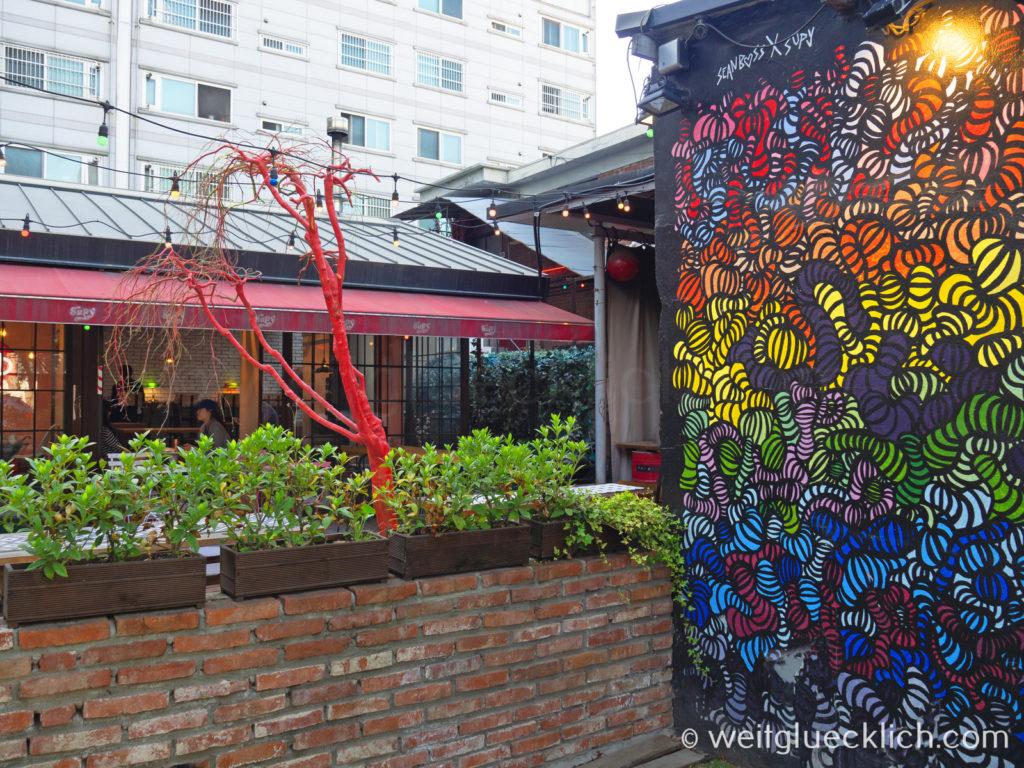 Weltreise 2020 Suedkorea Seoul Seongsu-dong Brooklyn Cafe Streetart