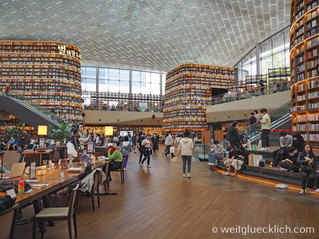 Weltreise 2020 Suedkorea Seoul Gangnam-gu COEX Mall Starfield Library