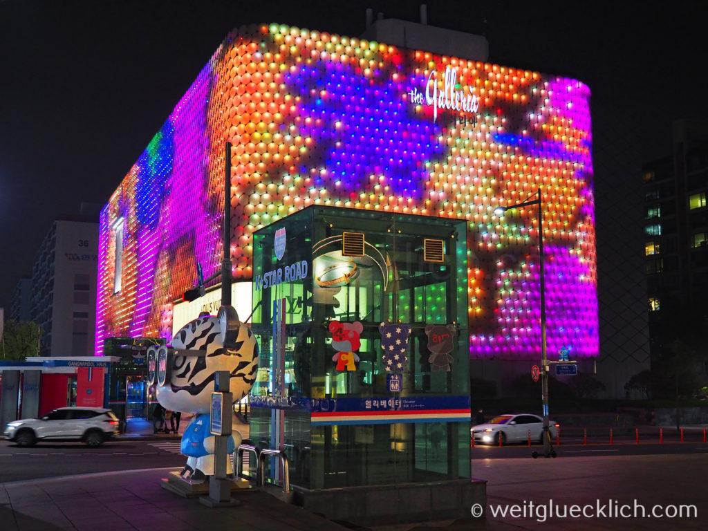 Weltreise 2020 Suedkorea Seoul Gangnam-gu K-Star Road Apgujeong Station
