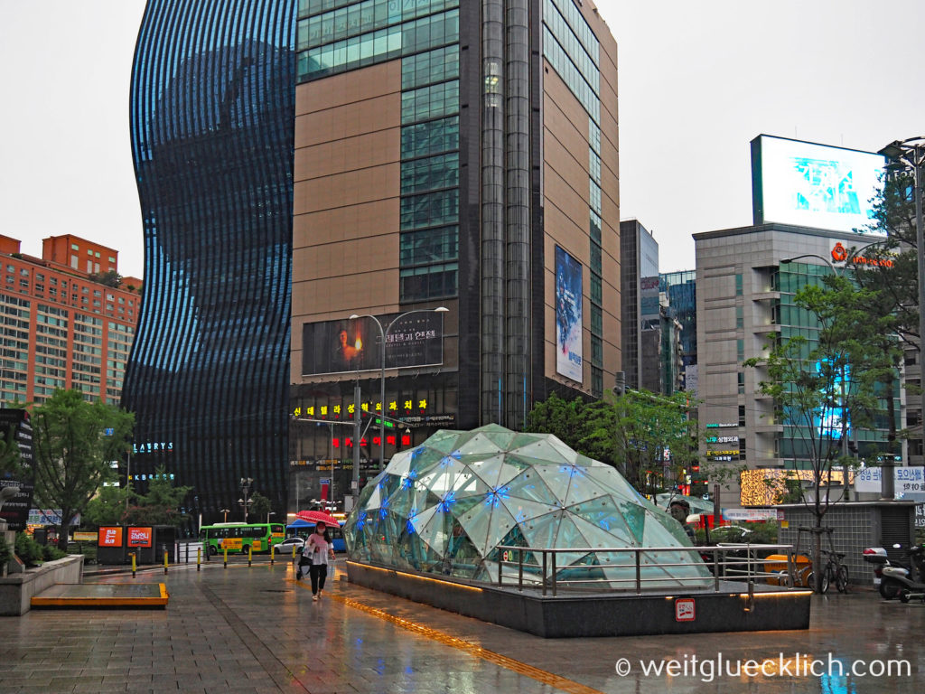 Weltreise 2020 Suedkorea Seoul Gangnam-gu Gangnam Station