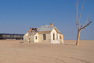 Weltreise 2021 Namibia Garub verlassener Bahnhof