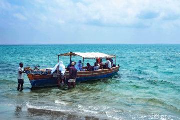 Afrika Tansania Mafia Island Holzboot